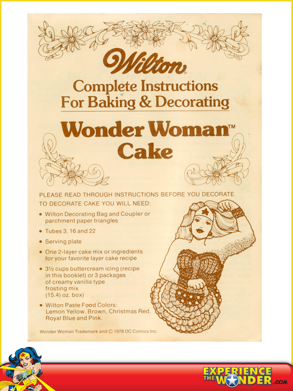 Wilton Wonder Woman Cake Pan Instructions
