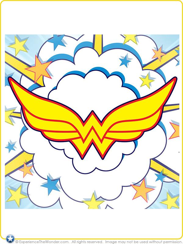 wonder woman superhero symbol