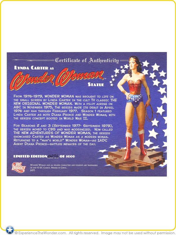 DC Direct Lynda Carter as Wonder Woman Statue | ExperienceTheWonder com