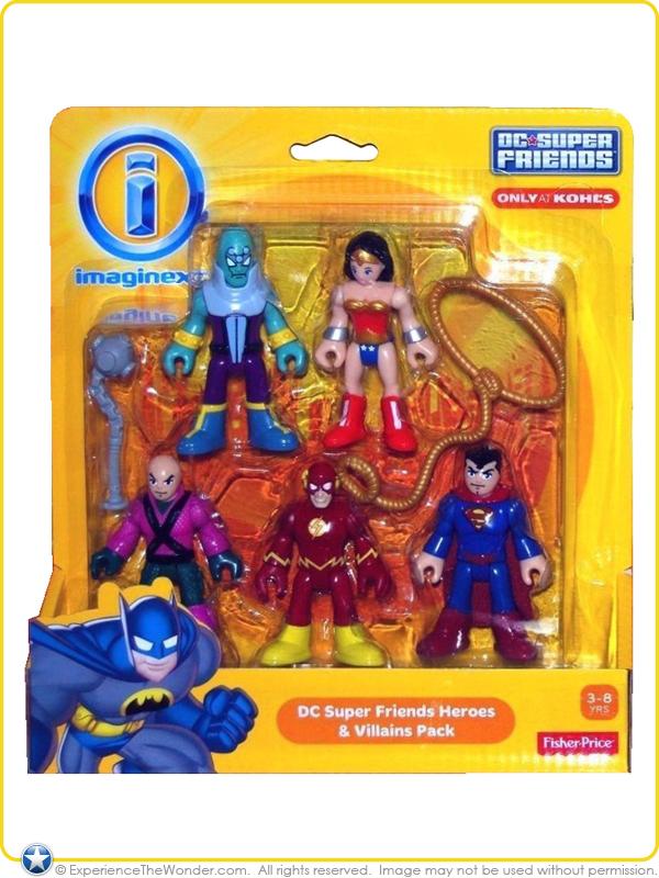 Mattel Fisher-Price Imaginext: DC Super Friends Action Figure 2-Pack – Wonder Woman & Superman ...