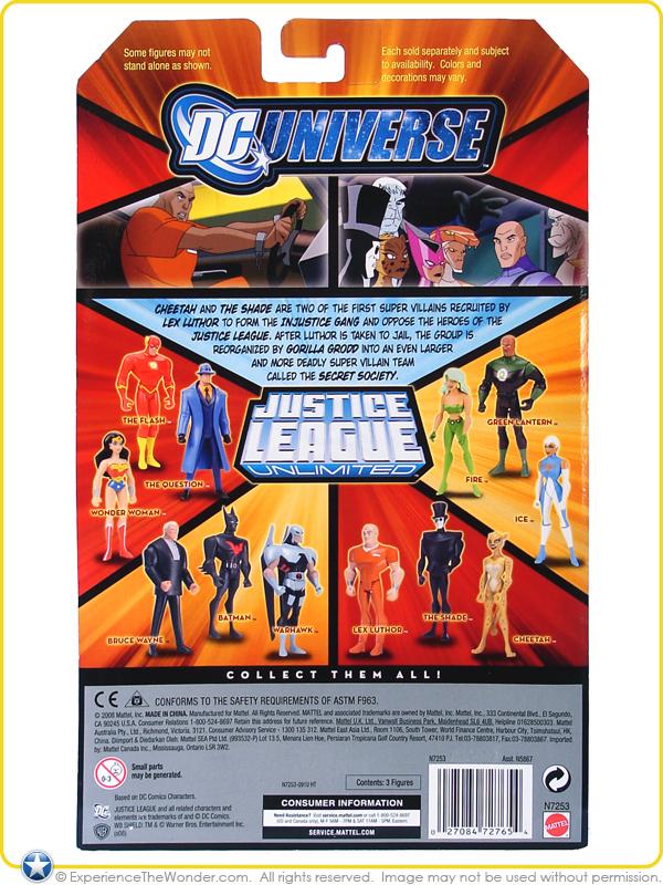 DC UNIVERSE JUSTICE LEAGUE fan Collection Pack 3 Cheetah Lex Luthor