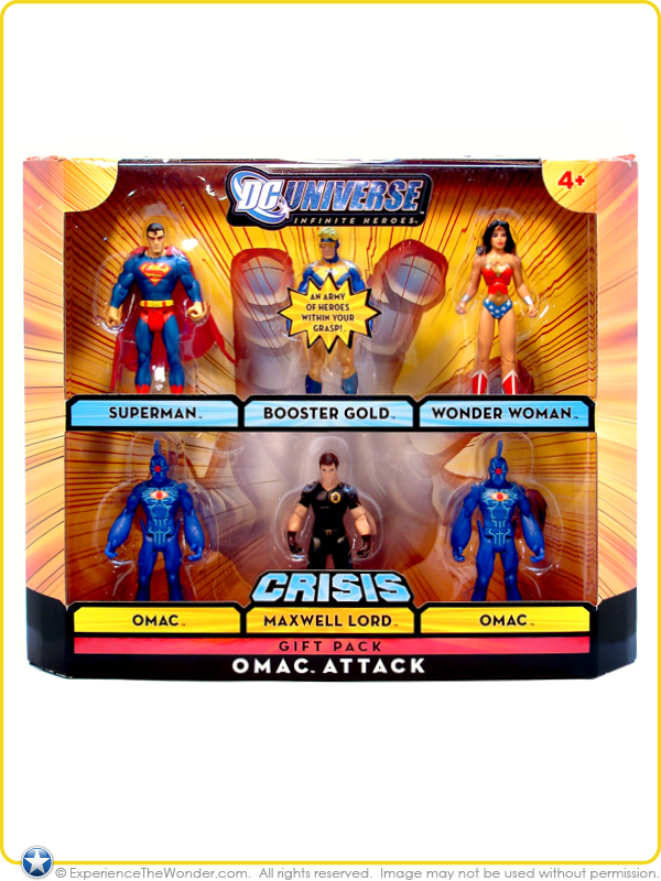 DC Universe Omac Attack 6 FIGURE SET Superman Wonder Woman Booster Gold ++