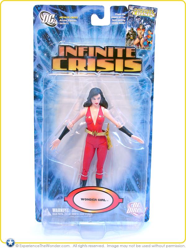 DC Direct crisi infinita SERIE 2 Donna Troy Wonder Girl Action Figure Vestito Rosso