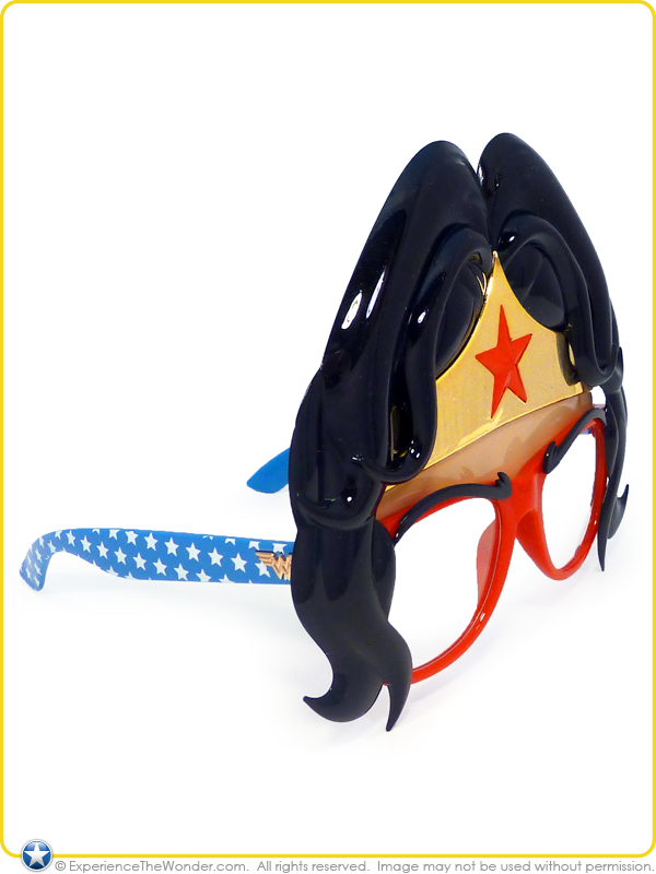 Star Wonder Women Girls Super Hero Sunglasses Sunstaches Accessory