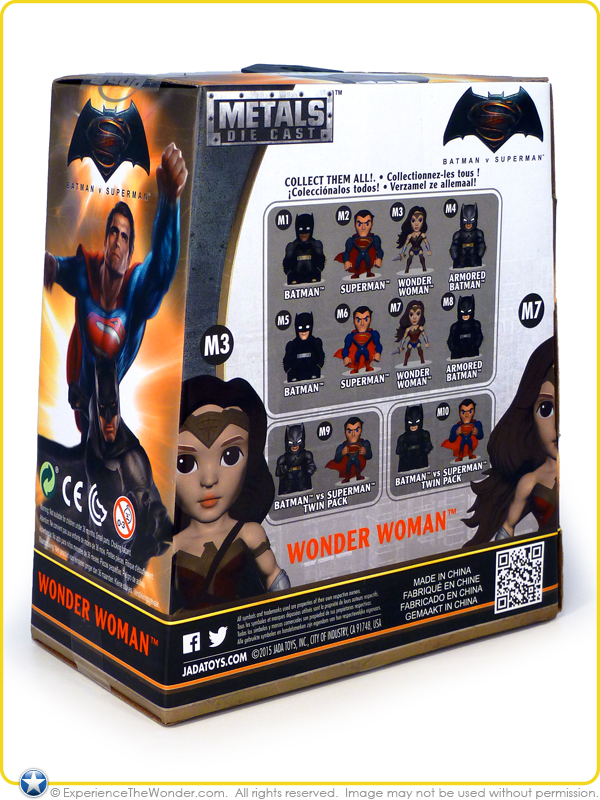 New Jada Metals Diecast WONDER WOMAN M3 Batman Vs Superman Movie DC Comics WB