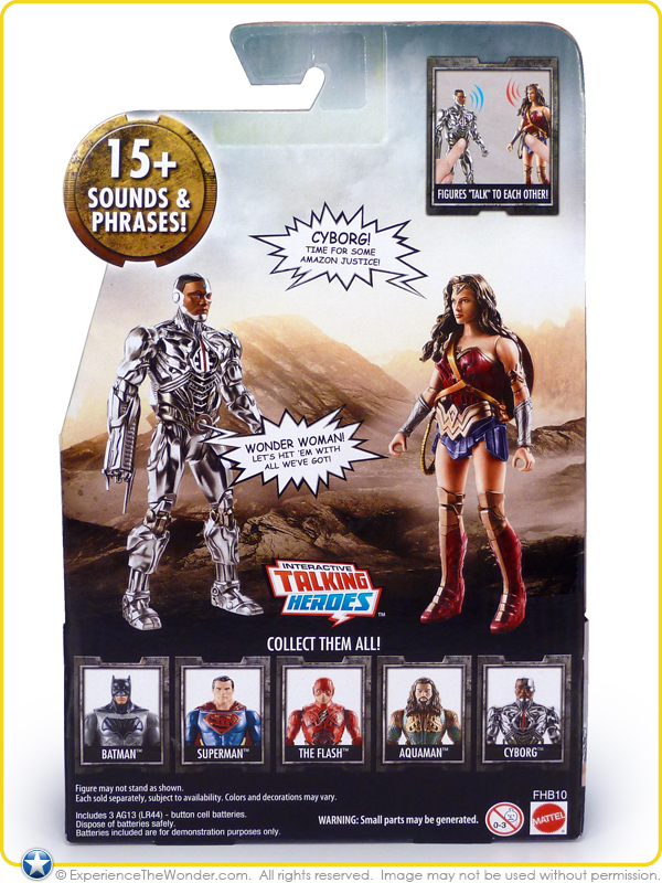 """SUPERMAN 6/"""" inch DC INTERACTIVE TALKING JUSTICE LEAGUE MOVIE ACTION FIGURE"""