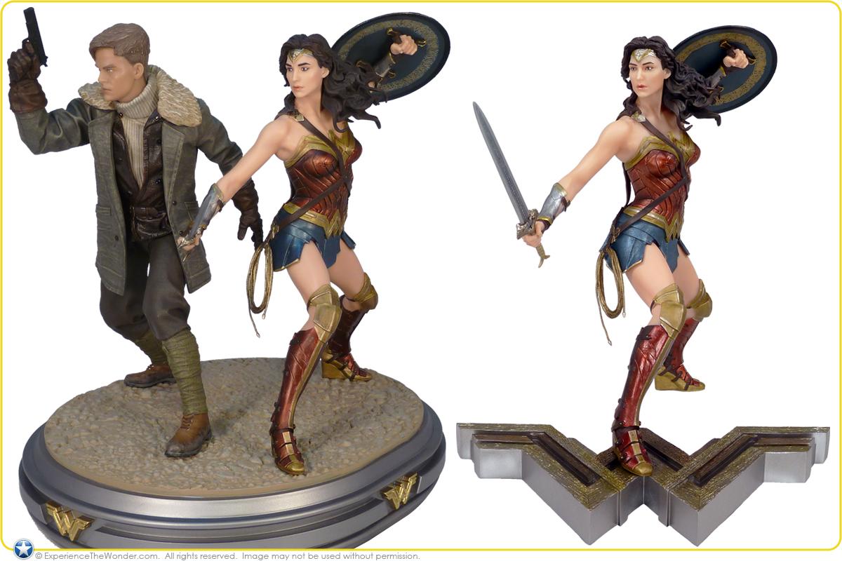 DC Wonder Woman and Steve Trevor Movie statue